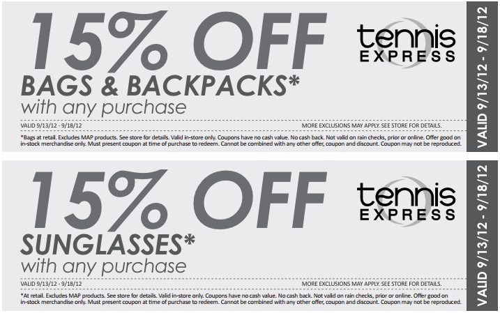 Tennis Express 2 Printable Coupons