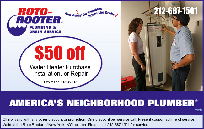 image about Roto Rooter Coupons Printable named Roto Rooter: $50 off H2o Heater Printable Coupon